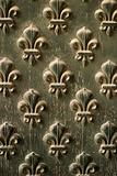 Fleur de Lis Pattern On Door