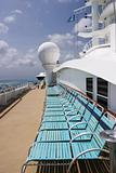 Deck Chairs On Cruise Ship