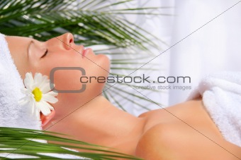 Beautiful young woman relaxing