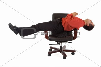 Office relaxation yoga position