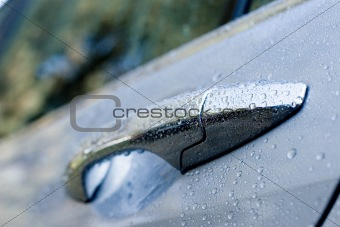 Wet car door