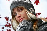 Young woman with winter hat 