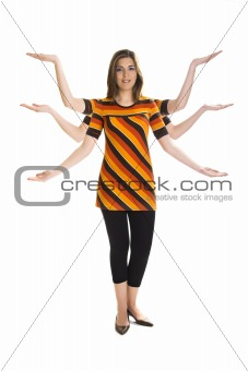 Six arms woman