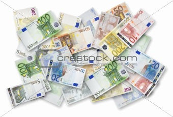 Lot of Euro banknotes