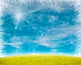 Beautiful snow flake background