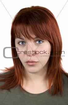 Girl kissing looking at camera