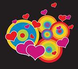 Valentines abstrat background