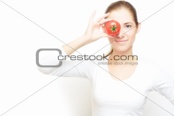 focus on tomatoes