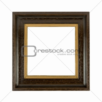 Old wooden photoframe