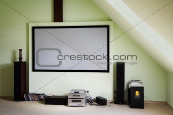 Modern house cinema