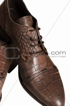 Man's brown boot