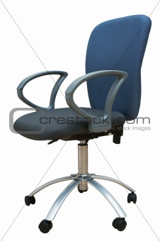 Blue chair for office