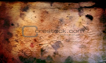 old and worn paper background frame