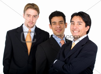 business team - men only