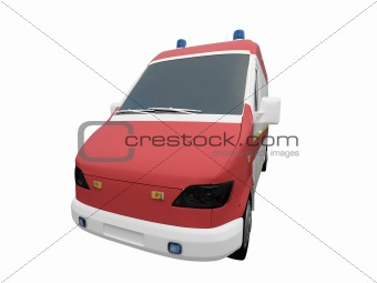 AmbulanceEU isolated front view 01