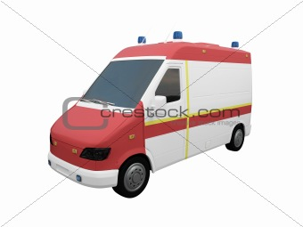 AmbulanceEU isolated front view 02