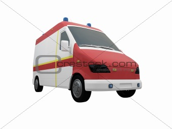 AmbulanceEU isolated front view 03