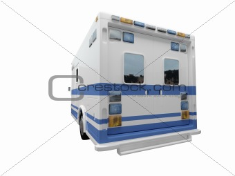 AmbulanceUS isolated back view 01