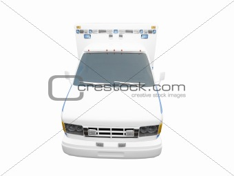 AmbulanceUS isolated front view 01
