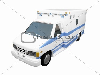 AmbulanceUS isolated front view 02