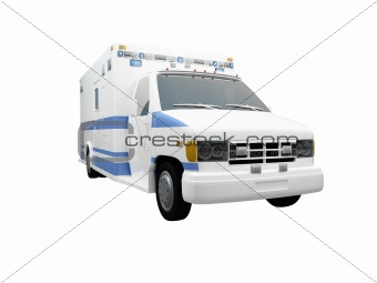 AmbulanceUS isolated front view 03