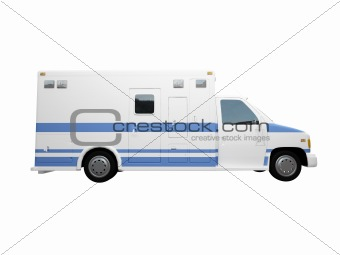 AmbulanceUS isolated side view