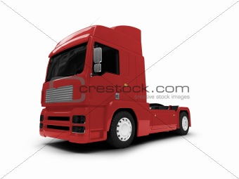 Bigtruck isolated red front view