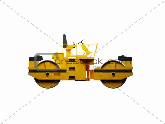 isolated heavy machine side view