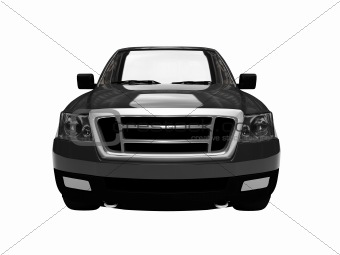 FordF150 isolated black car front view 03