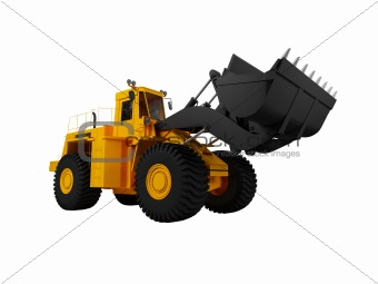 isolated heavy machine front view 02