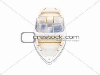 Small Boat isolated front view
