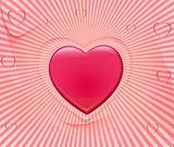 Romantic background vector illustration