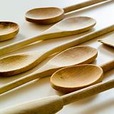 group of wooden utensils