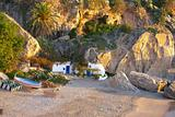 Small isolated beach in Spain