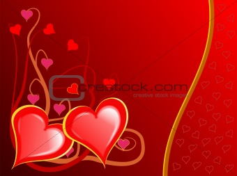 Valenties Day Hearts Background