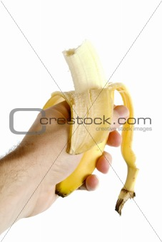 Half Eaten Banana