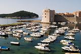 Dubrovnik Harbor With Boats