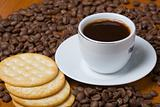Coffee and crackers