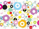 funky grunge circles