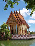 Thailand religious castle on the water