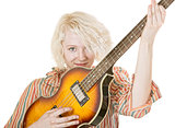 Grinning Female Guitarist