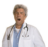 Yawning Mature Doctor