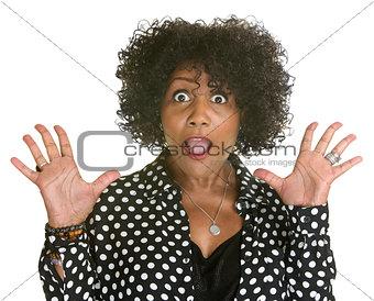 Mature Woman in Polka Dot