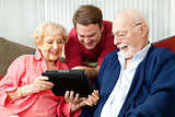 Family Using Tablet Computer
