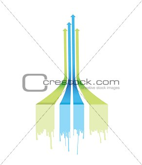leader arrow lines illustration design