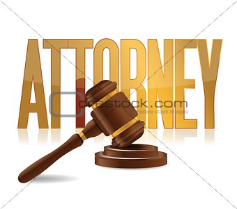 attorney at law sign illustration design