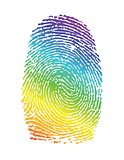 rainbow pride thumbprint. fingerprint illustration
