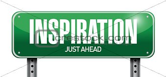 inspiration road sign illustration