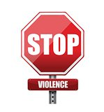 stop violence illustration design