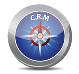 crm guide. compass illustration design